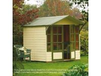 full height play house-summer house-garden room-shed- over hang roof
