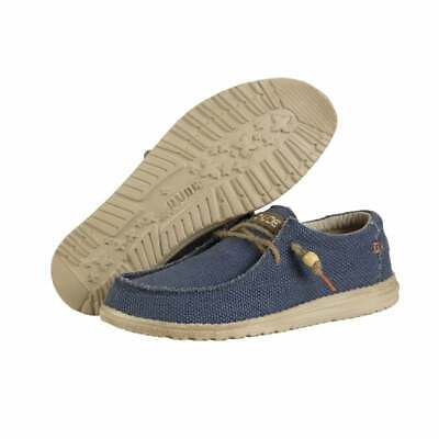 Hey Dude Shoes | Mens Wally Navy UK 7/8/9/10/11/12 | 100% GENUINE Free Delivery
