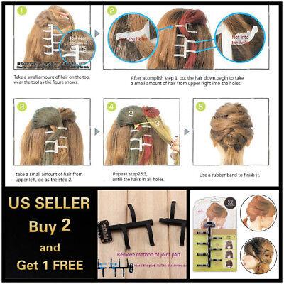 French Hair Styling Braiding DIY Tool Magic Twist Plait Braid Clip Bun Maker