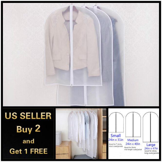 2pcs Dustproof Clothes Garment Suit Dress Jacket Storage Bag