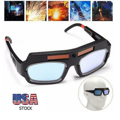 Us Solar Powered Auto Darkening Welding Mask Helmet Eyes Goggle Welder Glasses