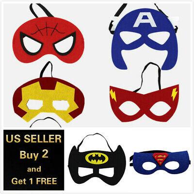Halloween Superhero Eye Masks (Super Hero Face Eye Mask Batman Superman Sipderman Flash Halloween)