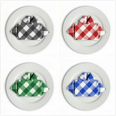 Napkins In Bulk (Bulk Sale 15 &17 in. Checkered Gingham Polyester Napkins(12/pack) 4)