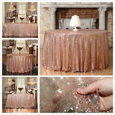 Sequin Tablecloth Cover Glitter Wedding Party Table cloth Linens Banquet Decor