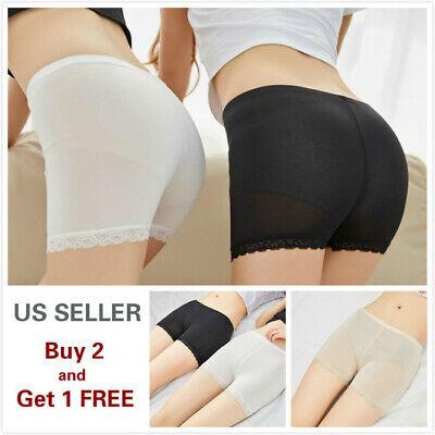 Women Stretch Safety Lace Under Shorts Seamless Leggings Pants Skirt Dress