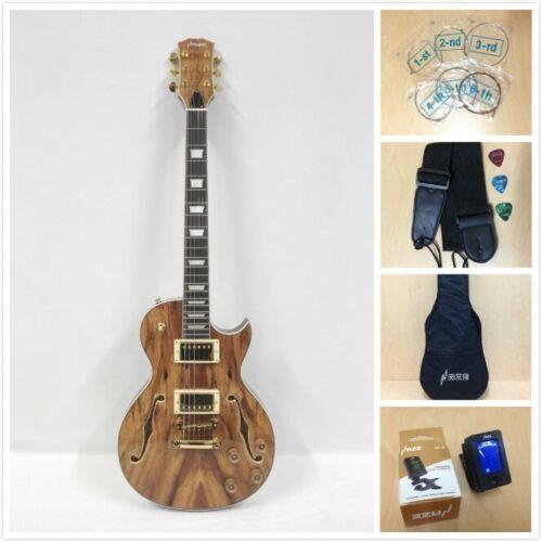 Haze Semi-Hollow Body w/Spalt Maple Veneer Electric Guitar 239GC+Free Gig Bag