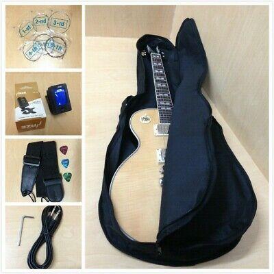 Haze 238A/N LP Electric Guitar,Solid Mahogany Body w/Flame Maple Veneer+Free Bag
