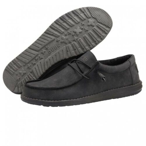 Hey Dude Wally Recycled Leather Carbon Men