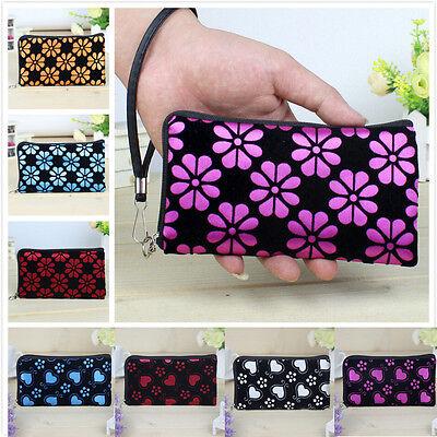 Women Printing Purse Coins Change Bag Clutch Zipper Wallet Phone Key Card Holder