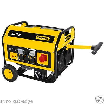 Stanley Sg 7500w Inverter Generator Electric Starter Inc Wheelshandles 3 Phase