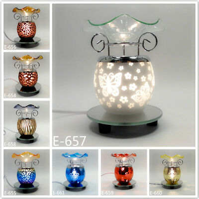 Modern Glass Decorative Electric Fragrance Lamp Aromatherapy Oils Warmer Burner ()