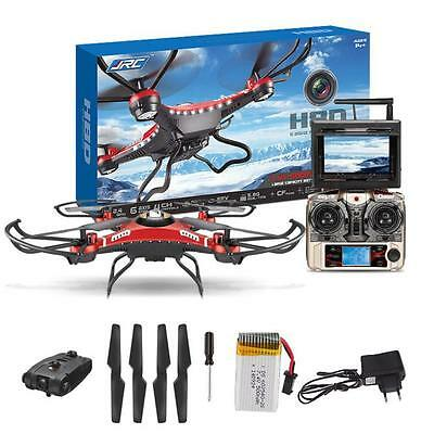Upgrade JJRC H8D 4CH 5.8G FPV RC Quadcopter Drone HD Camera + Monitor+ 4 Battery