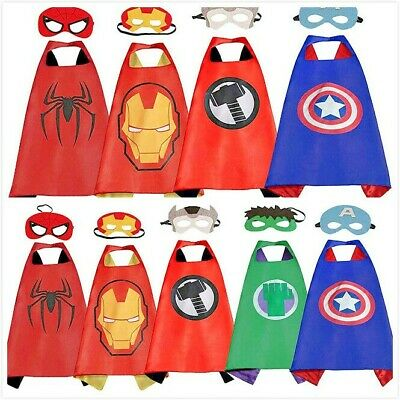 Superhero Capes with Masks Dress Up Costumes for Kids Boys Girls Party - Cape Girls