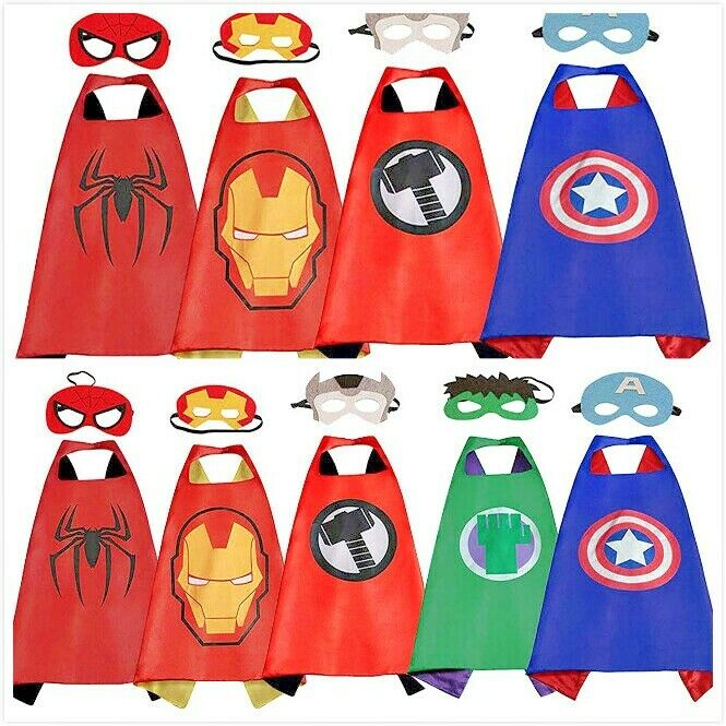 Superhero Capes with Masks Dress Up Costumes for Kids Boys G
