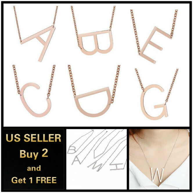 Jewellery - 26 Capital Initial Letters Necklace Chain Pendant Love Bridesmaid Jewelry