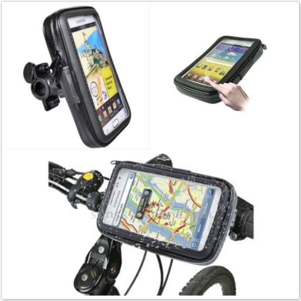 Weather Resistant Bike Mount And Case For Iphone & Android Phone & GPS upto 5.5 inch