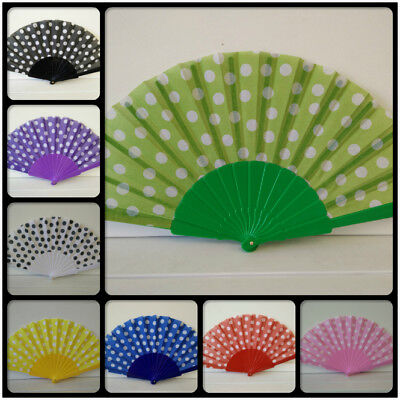 - Spanish Style Polka Dots / Oriental Dance Party Wedding Folding Hand Fan
