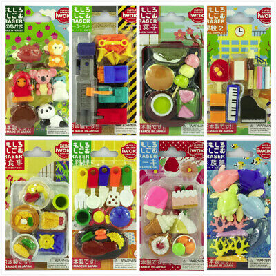 IWAKO Puzzle Eraser Food Animals Fruits Toy Sport Set Different - Food Erasers