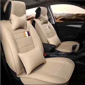 Leather Car Seat Covers Honda CRV Civic Jazz HYUNDAI i30 ix35 Tucson Santa Fe