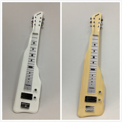 Haze SEG-217WH Electric LAP Steel Guitar with Gig Bag - White
