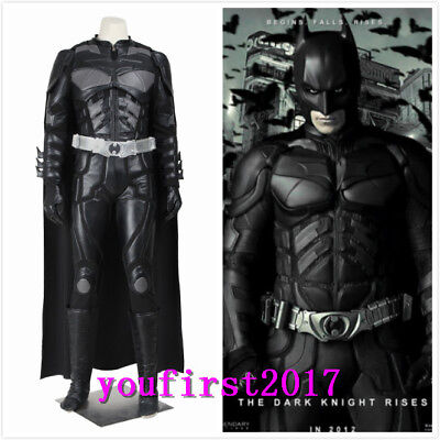 DC Batman The Dark Knight Rises Bruce Wayne Cosplay Kostüm Jumpsuit Karneval NEU