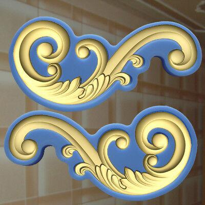 Gießformen Verzierung Silikonformen Gips Ornament Relief Deckenverzierung  (164)