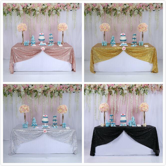 55x55 Sequin Tablecloth Christmas Table Cloth Cover Wedding