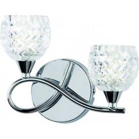 Modern Silver/Chrome/Glass Wall-lights