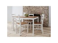 Noa and Nani Annika Dining Table with 4 Chairs Natural & White