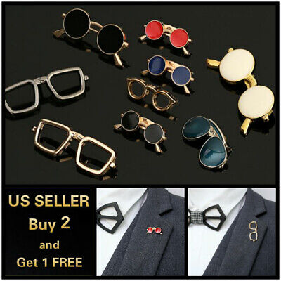 Sunglasses Men's Brooch Lapel Badge Suit Pin Chest Metal Collar Pin (Sunglasses Accessories For Men)