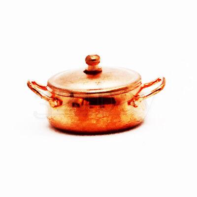 1 zu 12 Kupfer Mini Kochtopf Kochgeschirr Oval Topfset aus Metall Deckel 1zu12