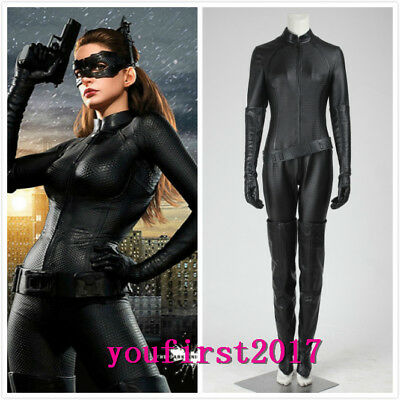 DC Batman The Dark Knight Rises Catwoman Selina Kyle Jumpsuit Cosplay Kostüm
