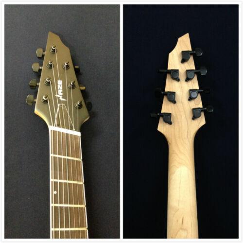 Haze-7FF MGS Fanned-Fret,7-String Electric Guitar,Satin Military Green+Free Bag
