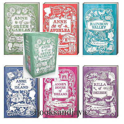 Anne of Green Gables 1-4 Box Set + 2 more books L M Montgomery (2014,Paperback)