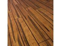 7 square metres of bamboo flooring