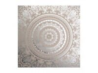 x2 Embellished Cocoon Fabric Canvas Wall Art