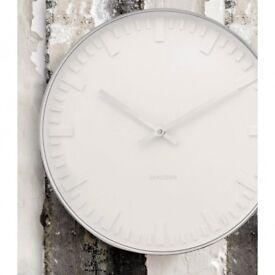 Karlsson Mr White Station (LARGE 51cm) Wall Clock