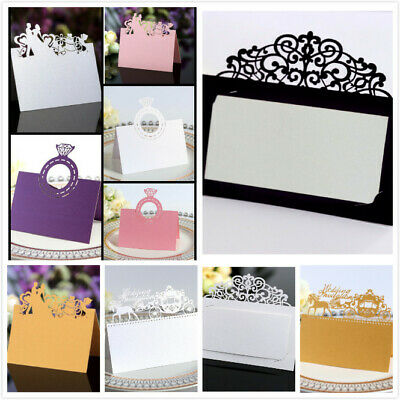 Party Table Name Cards (50pcs Wedding Engagement Party Table Name Place Cards  Laser Cut)