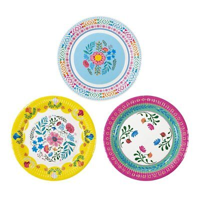 Boho Style Boho Chic Décor Party Supplies Paper Plates Pk 24 in 3 Designs