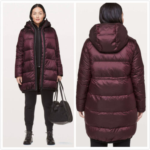 NWT Lululemon Cloudscape Long Down Jacket Coat DKAD Size 10  $298