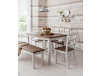 Pine Dining Table, 4 Chairs and a Bench