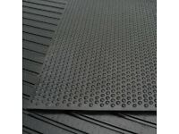 Horse Stall Mats / Rubber Gym Flooring x 4 (6x4ft/10mm thick)