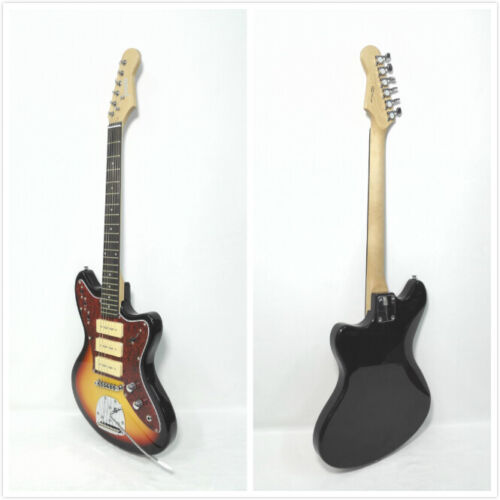 Haze HSJA-1950 Solid Body Electric Guitar,S-S-S Pickups,Sunburst+Free Gig Bag