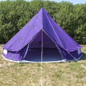 5m Purple Rain Bell Tent With Zipped in Ground Sheet