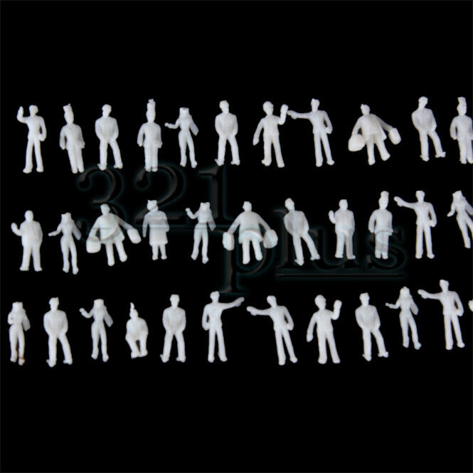 100 pcs 7mm Figures ZZ Scale Gauge Small Figures standing sitting People 1:300