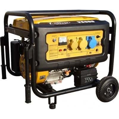 Villiers V6000ES Electric Start Petrol Generator 5.5kw 6Kva with wheel kit