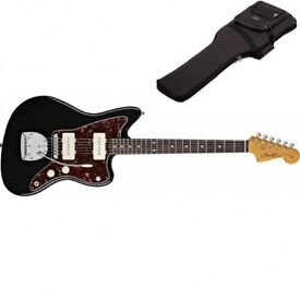 Brand New Fender Classic player JazzMaster in black inc deluxe gig bag