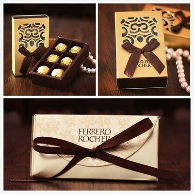 - 100pc FERRERO ROCHER Candy Boxes Wedding Favor Bridal Shower Party Chocolate Box