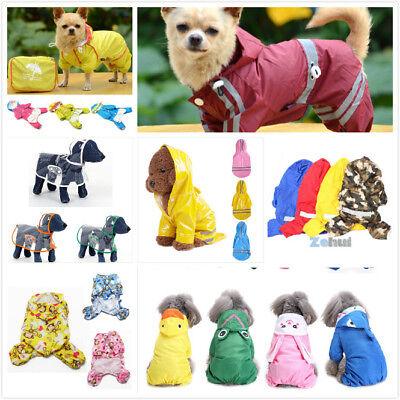 Doggie Gear (Outdoor Puppy Waterproof Raincoat Doggie Hooded Rain Gear Jumpsuit for Small)