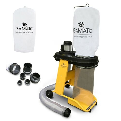 BAMATO Absauganlage AB-550 + Adapterset + 2. Filtersack Späneabsaugung Absaugung